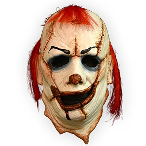 Trick Or Treat Studios Skinner Clown Quality Face Mask, White Red Blue, One-Size -