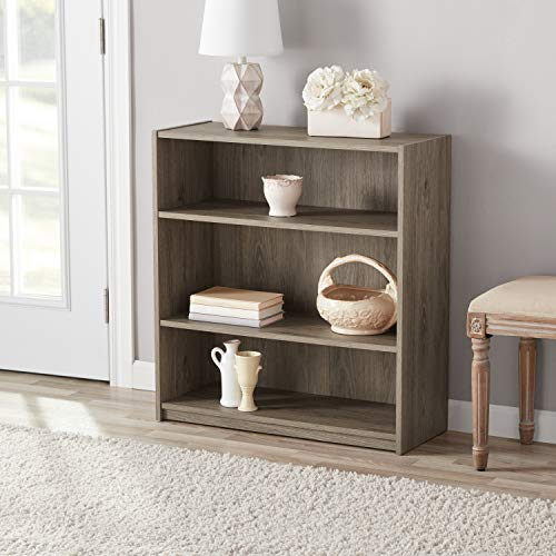 Amazon Mainstays 3 Shelf Bookcase Multiple Colors Rustic Oak Kitchen Dining