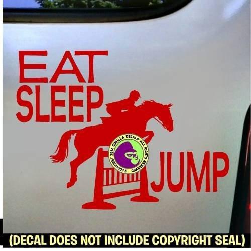 EAT SLEEP JUMPING Hunter Jumper Vinyl Decal Sticker B