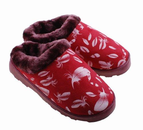 inverno In Cucitura E Donna Uomo Pantofole rosso Colorfulworldstore Cotone Scarponi Donna Neve Laterale Home Da Cotone Per Porpora Camoscio d0gtq6