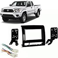 Fits Toyota Tacoma 2012 Double DIN Car Harness Radio Install Kit - Gloss Dash