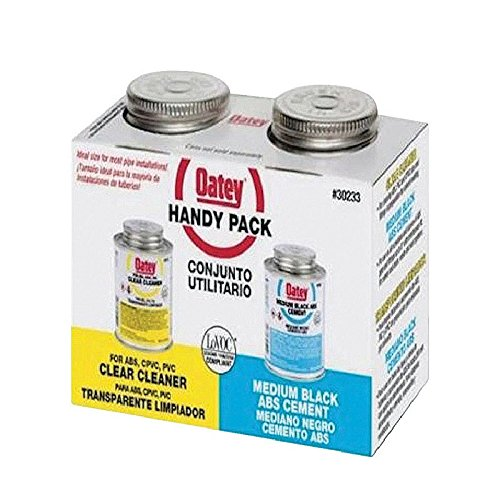 Oatey 30252 4 OZ Medium Black Abs Cement Weld Kit 4OZ (Solvent Cement Kit)