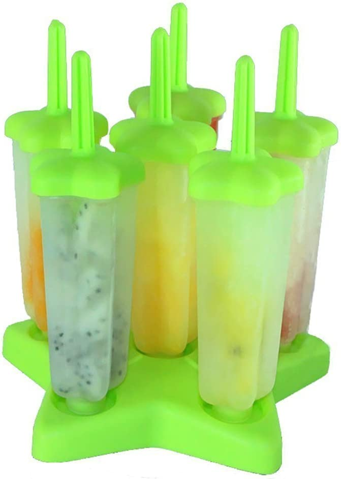 moldes hielo Blue Mould Set frutas frescas del jard/ín congeladas moho pop Kenmont moldes para helados set de 6 moldes moldes de silicona