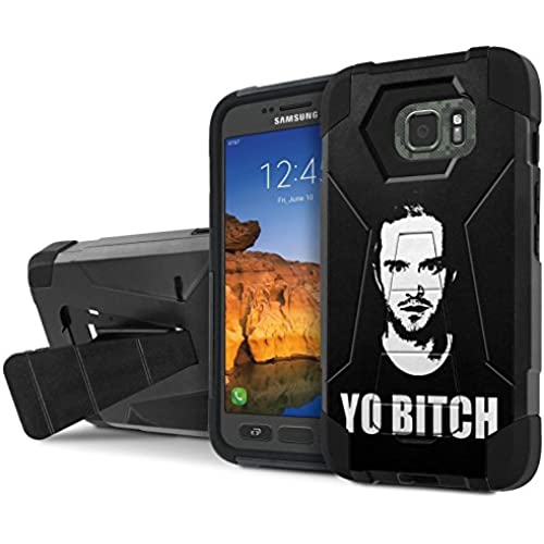 AT&T [Galaxy S7 Active] Armor Case [NakedShield] [Black/Black] Tough ShockProof [Kickstand] Phone Case - [Yo Bitch] for Samsung Galaxy [S7 Active] Sales