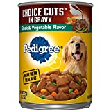 Cheap Pedigree Choice CUTS in Gravy Steak & Vegetable Flavor Adult Canned Wet Dog Food, (12) 13.2 oz. Cans