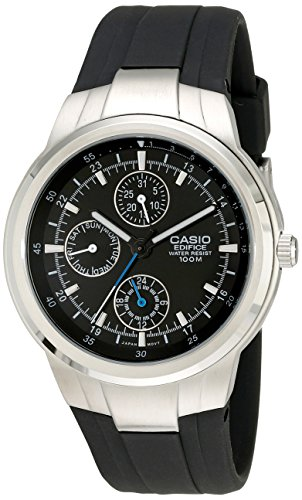 Casio Men's EF305-1AV Edifice Multifunction Watch With Black Resin Band