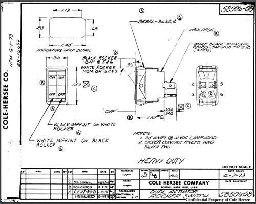 cole hersee trailer wiring diagram amazon com 58506 08 25a narrow body dual rocker switch cole  58506 08 25a narrow body dual rocker