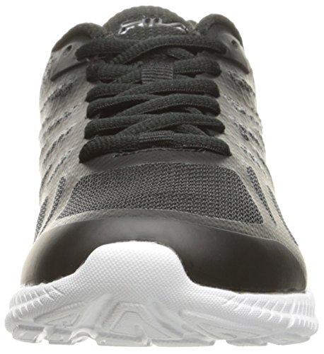 Fila Womens Memory Speedstride Running Shoe Black/White/Metallic Silver JLAL7XMrk6