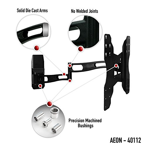 Aeon Stands And Mounts Full Motion Wall Mount With 29 Inch Extension For 32  To 65 Inch TV General General