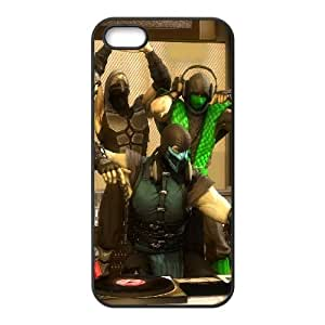 Mortal Kombat Scorpion humo Ermac Sub Zero Reptile 103.866 iPhone 4 4S caja del teléfono celular funda Negro caja del teléfono celular Funda Cubierta EEECBCAAL70546