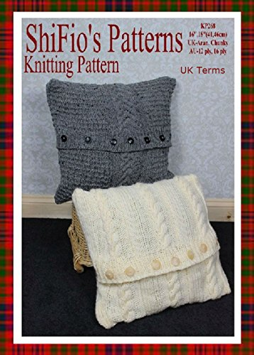 Amazon Knitting Pattern Kp268 Aran Chunky Cable Cushions