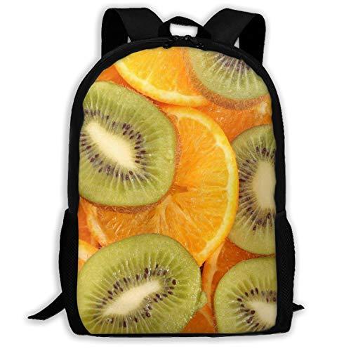 Backpack Kiwi Orange Zipper School Bookbag Daypack Travel Rucksack Gym Bag For Man Women