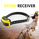 Depps Wireless Dog Containment System with Rechargeable Transmitter and Rechargeable Collar Receiver - Safe & Easy Install WiFi Radio Electric Dog Fence (Extra Collar) Yellow