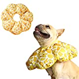 Rantow Adjustable Pet Dog Recovery Collar   Puppy Cats After Surgery E-Collar   Soft Cone of Shame   Anti-Bite Lick Wound Protective Neck Collar for Small Dogs Large Cats (S, Yellow Giraffe)