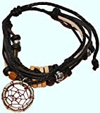 Black Dreamcatcher Bracelet Handmade Pendant Indian Dream Catcher