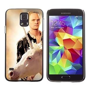 Licase Hard Protective Case Skin Cover for Samsung Galaxy S5 - LOL Unicorn & Barney