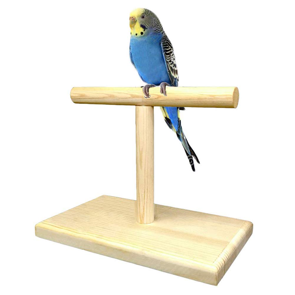 Longsw Bird Chicken Stand Swing Natural Wooden Toy For Parrot Munia Macaw Training Perch