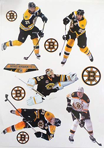 FATHEAD Boston Bruins Mini Team Set Graphics 5 Players + 5 Bruins Logo Official NHL Vinyl Wall Graphics 7