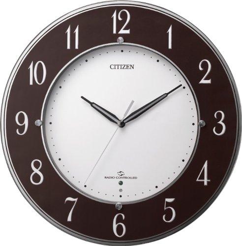 シチズン 高感度 電波 掛け時計 アナログ スリーウェーブM830 グリーン購入法 適合品 茶 (メタリック) CITIZEN 4MY830-006 B00G5Z7WOQ