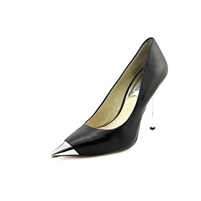 556dc606334 Image Unavailable. Image not available for. Color  Michael Kors Zady  Platform Pump Heel Black Silver Metallic Sz 8 M
