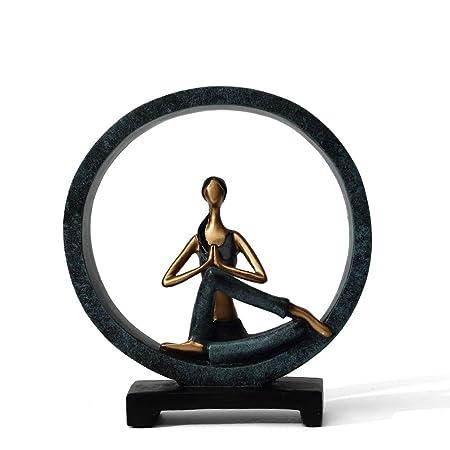 LANXINYUSHANGPU QFQ Adornos creativos de Resina de Yoga ...