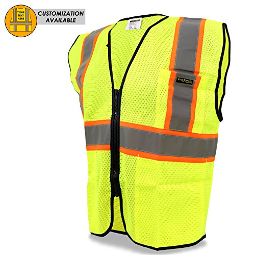 KwikSafety HOT SHOT | Class 2 Construction Safety Vest | 360° High Visibility Reflectivity ANSI Compliant Work Wear | Hi Vis Breathable Mesh Men & Women Regular to Oversized Fit (Medium Regular Hi Visibility)