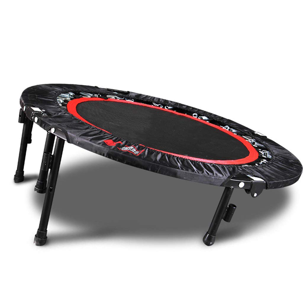 LKFSNGB Fitness Trampoline Foldable Mini Indoor Trampoline Adult Children's Outdoor Cardio Workout 150 kg User Weight - Folding Legs by LKFSNGB