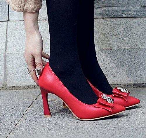 Mee Shoes Pumps High On Rot Heel Damen Slip Tanzbogen rrU1Rq