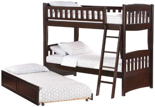 Night U0026 Day Cinnamon Twin Over Twin Bunk Bed Chocolate Finish