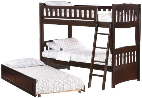 Night & Day Cinnamon Twin Over Twin Bunk Bed Chocolate (Kids Birch Bunk Bed)