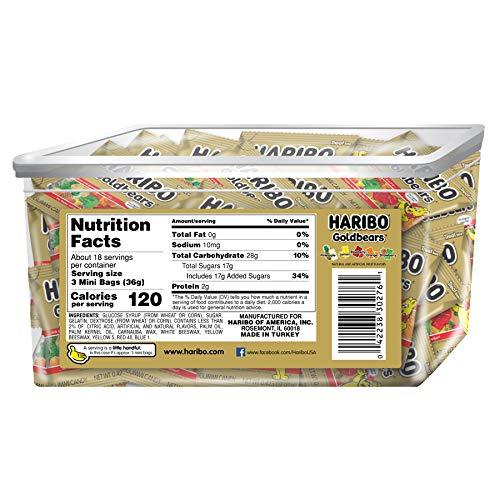 Haribo Goldbears Original Flavor, 22.8 oz. Tub containing 54 - .4 oz. Bags by Haribo (Image #1)