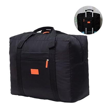 jooks viaje bolso plegable bolsa de viaje equipaje de mano ligero equipaje maleta ropa bolsa de almacenamiento Ideal para Camping y gimnasio negro