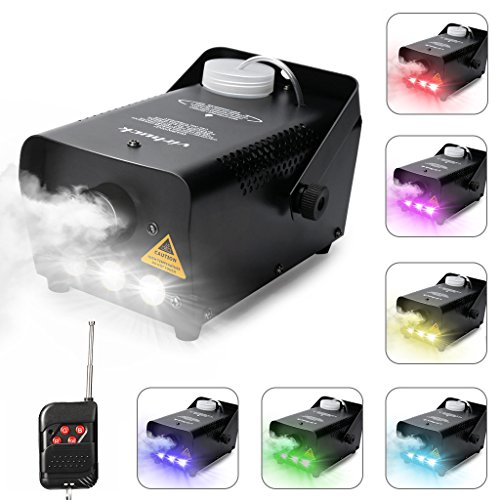 Virhuck 500W Portable RC Fog Machine with Wireless Remote Control, Professional Smoke Machine -