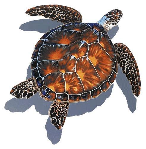 Sea Turtle Porcelain Swimming Pool Mosaic (20
