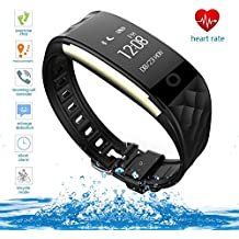 Fitness Tracker, Health Sleep Activity Tracker, Upgraded Watch Wristband with Heart Rate Monitor, Wireless Bluetooth Smart Bracelet for Outdoor Running Walking, for iPhone/Android