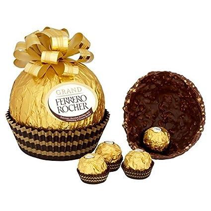 Amazon Com Ferrero Rocher Mega Grand 8 5 Ounce Milk Chocolate Hazelnut Grocery Gourmet Food