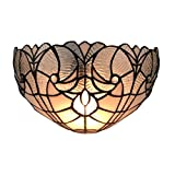 Amora Lighting AM249WL12 Tiffany Style White Floral Wall Sconce Lamp 12 In Wide