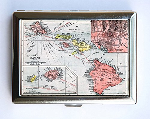 Amazon hawaii state map cigarette case wallet business card hawaii state map cigarette case wallet business card holder id case islands reheart Gallery