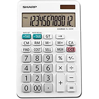 Sharp Calculators EL-334WB Business Calculator, White 4.0