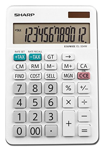 Sharp EL-334WB Business Calculator, White 4.0 ()