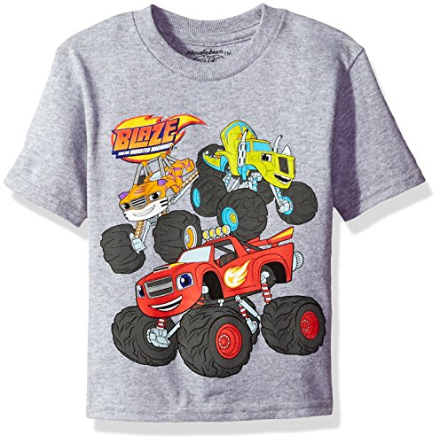 Nickelodeon Toddler Boys' Blaze and the Monster Machines Short Sleeve T-Shirt, Heather Grey, 3T Blaze Apparel