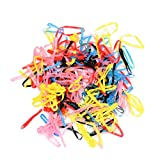 Expxon 250-300pcs/lot Rubber Hairband Rope Ponytail Holder Elastic Hair Band Ties Braids Plaits (MIX4)