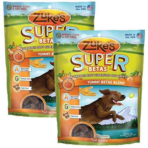 Zuke's Supers All Natural Nutritious Soft Superfood Dog Treats, Yummy Betas Blend 6-Ounce 2 pack