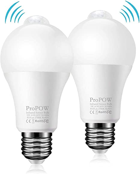 Amazon.com: ProPOW - Bombilla LED con sensor de movimiento ...