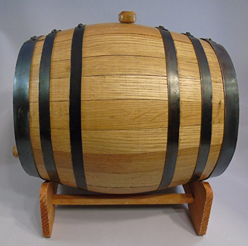 Custom Engraved 3 Liter Oak Barrels for Aging Whiskey, Rum, Tequila, Bourbon, Scotch and Wine (3 liter) by Red Head Barrels (Image #1)