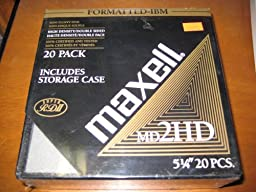 Maxell MD2HD 5 1/4 inch Mini Floppy Disks 20 Pack
