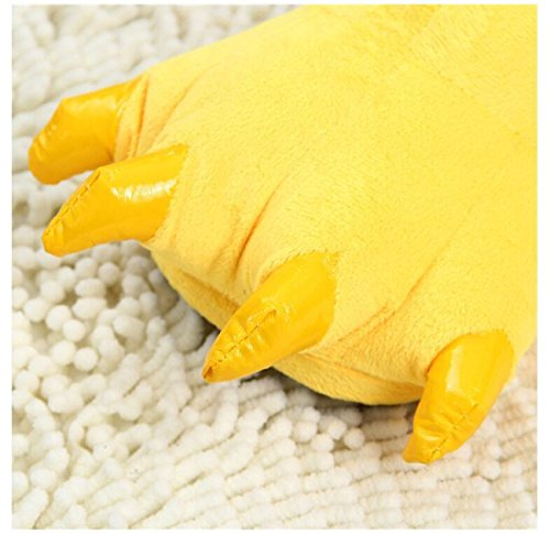Peluche Claw Animal Peluche Costume Pantofole Unisex Shoes Yellow Paw LANFIRE Ow4x7T
