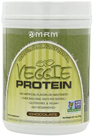 MRM Veggie Protein Nutritional Supplement, Chocolate, 570 Grams