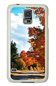 Country Road Custom Samsung Galaxy S5/Samsung S5 Case Cover Polycarbonate White