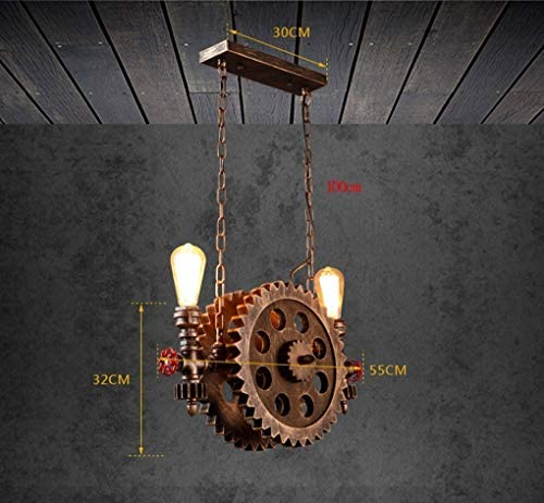 HAOT Pendant Light, Iron Wood Lampshade Non-toxic Long Life Suspension Non-deformation Anti-rust Anti-corrosion Moisture-proof Durable Easy To Install